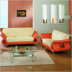 Global Furniture USA Charles 2-Piece Leather Living Room Set
