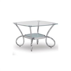 Global Furniture USA 559 Glass and Chrome End Table