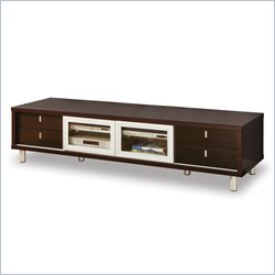 Global Furniture USA Wide Plasma/LCD TV Stand in Warm Wenge