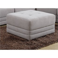 Global Furniture Square Tufted Ottoman in Hazelwood Taupe