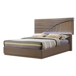 Global Furniture North LED Panel Bed in Gold