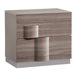 Global Furniture Adel 2 Drawer Nightstand in Gray