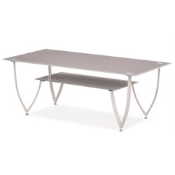 Global Furniture Glass Top Coffee Table in Beige