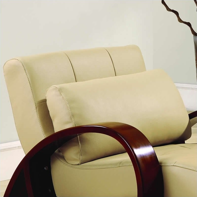 Global Furniture USA Leather Chaise Lounge in Cappuccino