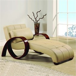 Global Furniture USA Chaise Lounge in Cappuccino