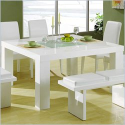 Global Furniture USA Lony Square Dining Table in White