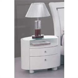 Global Furniture USA Emily Night Stand in White