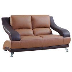Global Furniture USA 982 Love Seat in Brown