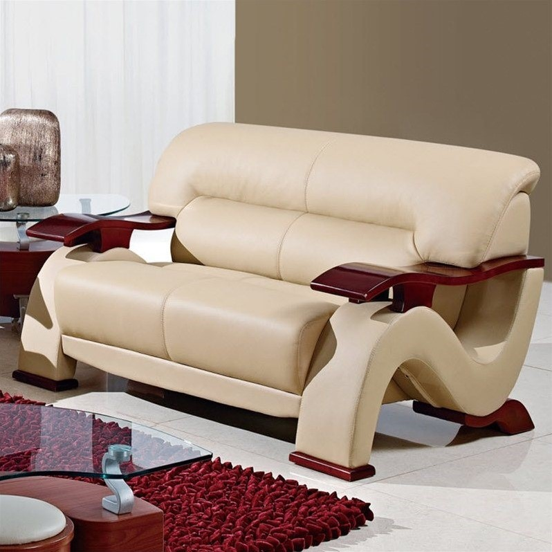 Global Furniture USA Leather Loveseat in Cappuccino