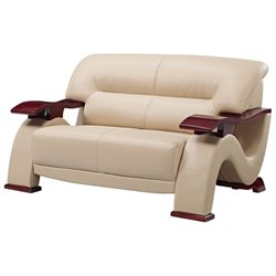 Global Furniture USA 2033 Loveseat in Cappuccino Bonded Leather
