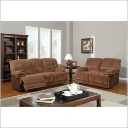 Global Furniture USA 9968 2 Piece Reclining Sofa Set in Champion Brown Sugar