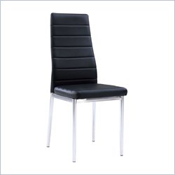 Global Furniture Dining Chair with Chrome Legs in Black