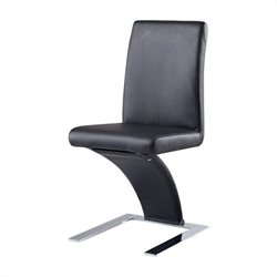 Global Furniture Unique Zig Zag Dining Chair in Black