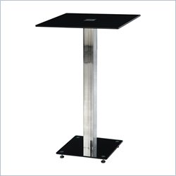 Global Furniture Bar Table in Black and Silver