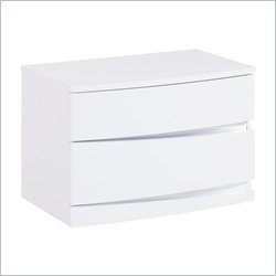 Global Furniture Aurora Nightstand in White