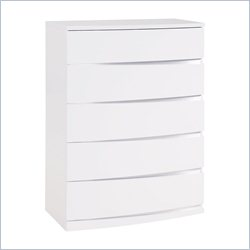 Global Furniture Aurora Chest in White