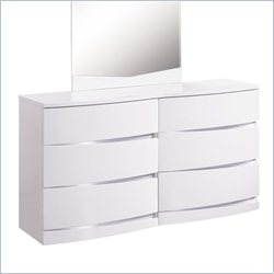 Global Furniture Aurora Big Dresser in White