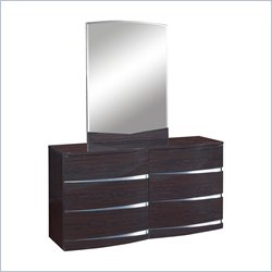 Global Furniture Aurora Big Dresser in Wenge