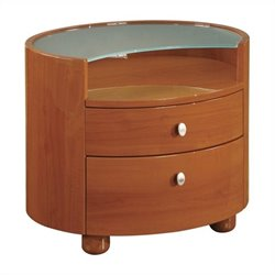 Global Furniture Emily Night Stand in Cherry