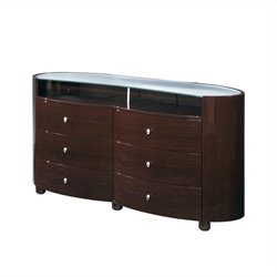 Global Furniture Emily Evelyn Dresser in Wenge