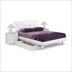 Global Furniture Evelyn Bed in White - Full