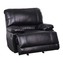 Global Furniture USA Leather Glider Recliner in Black