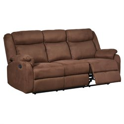 Global Furniture USA Microfiber Reclining Sofa in Chocolate