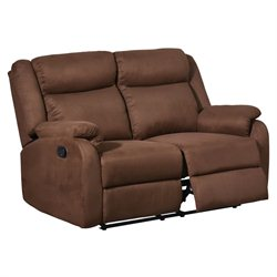 Global Furniture USA Microfiber Reclining Loveseat in Chocolate