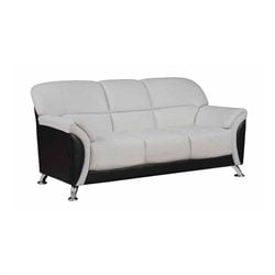 Global Furniture USA Leather Sofa in Light Gray