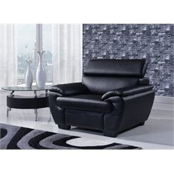 Global Furniture Natalie Accent Chair with Headrest in Black