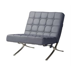 Global Furniture Natalie Leather Accent Chair in Dark Grey