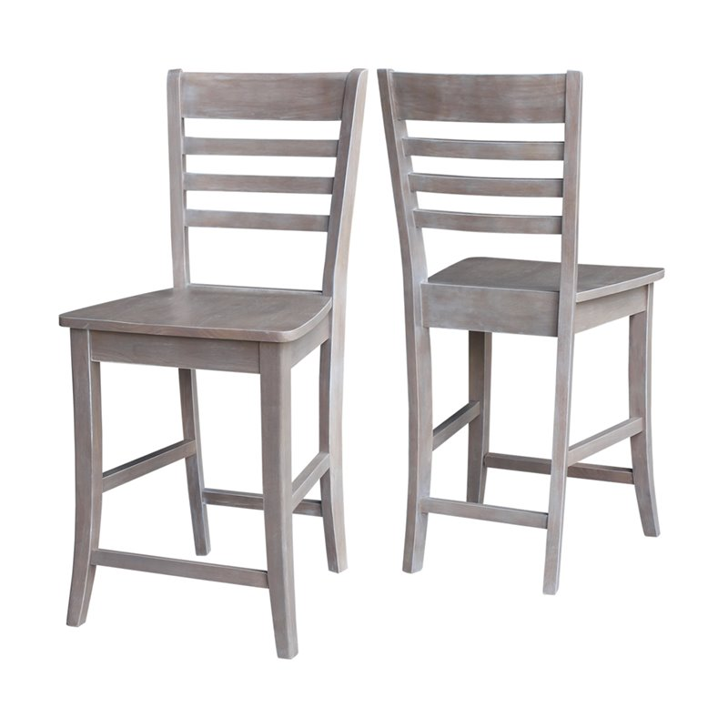 Ladderback 24 Counter Stool In Weathered Gray S09 3102