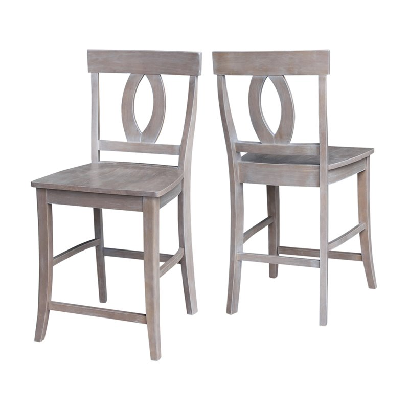 24 Counter Stool In Weathered Gray S09 1702