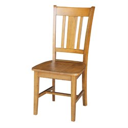International Concepts San Remo Dining Chair in Pecan (Set of 2)