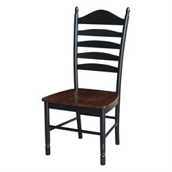 Tall Dining Chair in Aged Ebony (Set of 2)