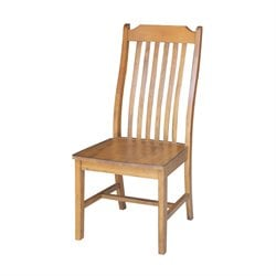 International Concepts Mission Dining Chair in Pecan (Set of 2)