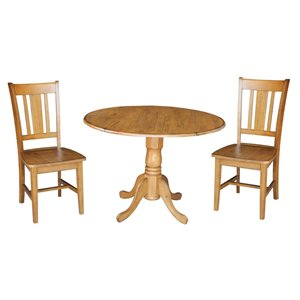 3 Piece Dinette Set in Pecan
