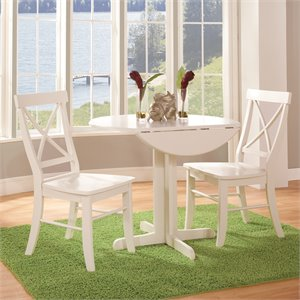 3 Piece Dinette Set in Linen White