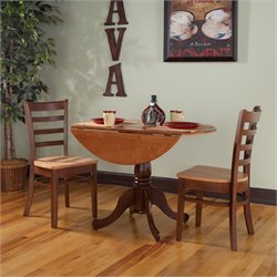 International Concepts 3 Piece Dinette Set in Cinnemon and Espresso