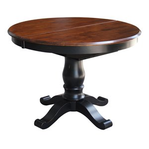 International Concepts Extendable Dining Table in Aged Ebony