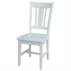 International Concepts San Remo Splat Back Dining Chair in Beach White