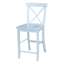 International Concepts X-back Bar Stool in White