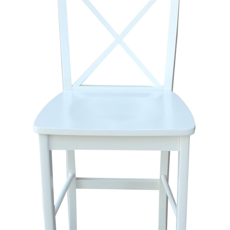International Concepts X Back 30 Quot Bar Stool In White S08