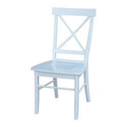 International Concepts X-Back Dining Chair in White (Set of 2)