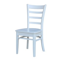 International Concepts Emily Side Dining Chair in White (Set of 2)