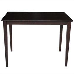 Shaker Style Counter Height Gathering Dining Table in Rich Mocha