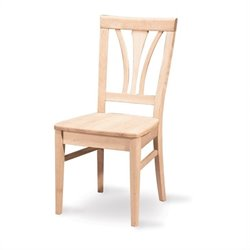 International Concepts White Unfinished Fanback   Dining Chair (Set of 2)