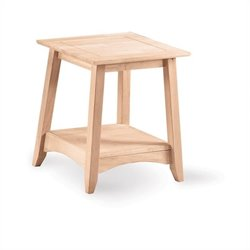 International Concepts Whitewood Bomby Tall Unfinished End Table