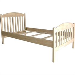 International Concepts Jamestown Twin Slat Bed in Clear Finish