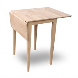 International Concepts Unfinished Drop Leaf  Casual Dining Table